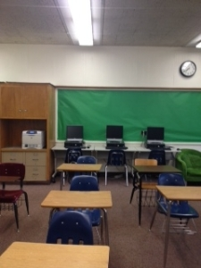 Back of classroom