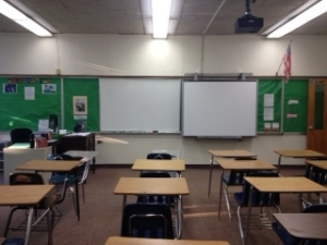 classroom front view