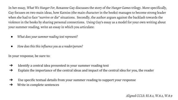 summer reading essay 2016