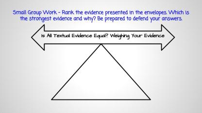 small-group-work-rank-the-evidence-presented-in-the-envelopes-which-is-the-strongest-evidence-and-why-be-prepared-to-defend-your-answers