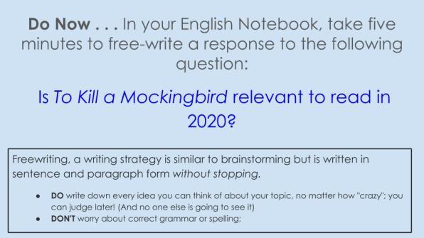 Mockingbird Do Nows