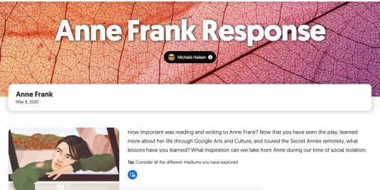 Anne Frank Flipgrid Response